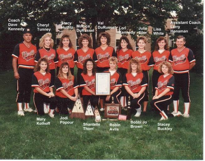 1990 Girl's Softball Team Photo